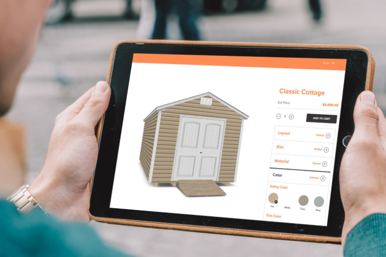 Customize sheds with Village Shed Store design tool