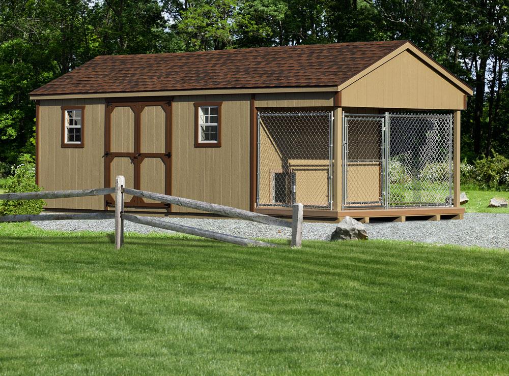 Village Shed Store 10x24 dog kennel