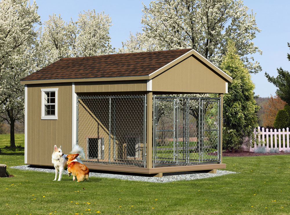 Village Shed Store 8x14 double dog kennel