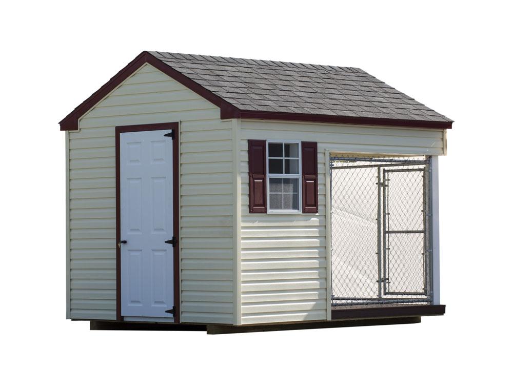 Village Shed Store 8x10 dog kennel back