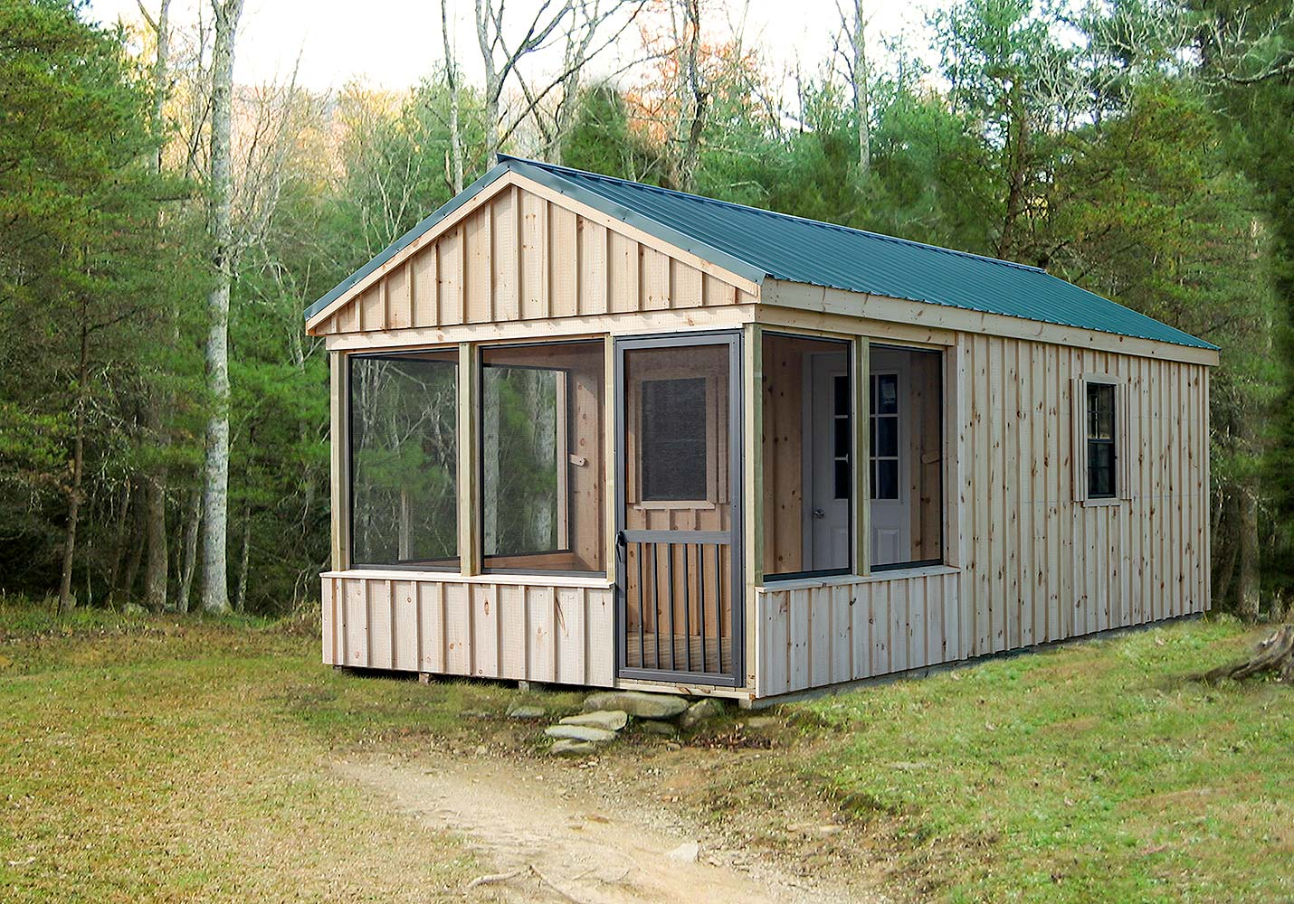 Village Shed Store screened a frame cabin